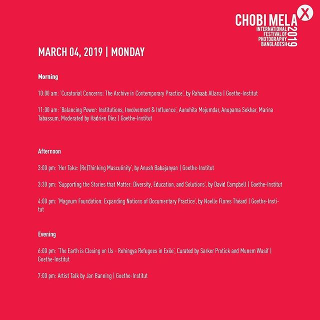 Day 5, Schedule for todays programs  For event registration go through the link: https://form.jotform.me/Chobimela/Event-Registration  For full schedule visit: http://www.chobimela.org/schedule