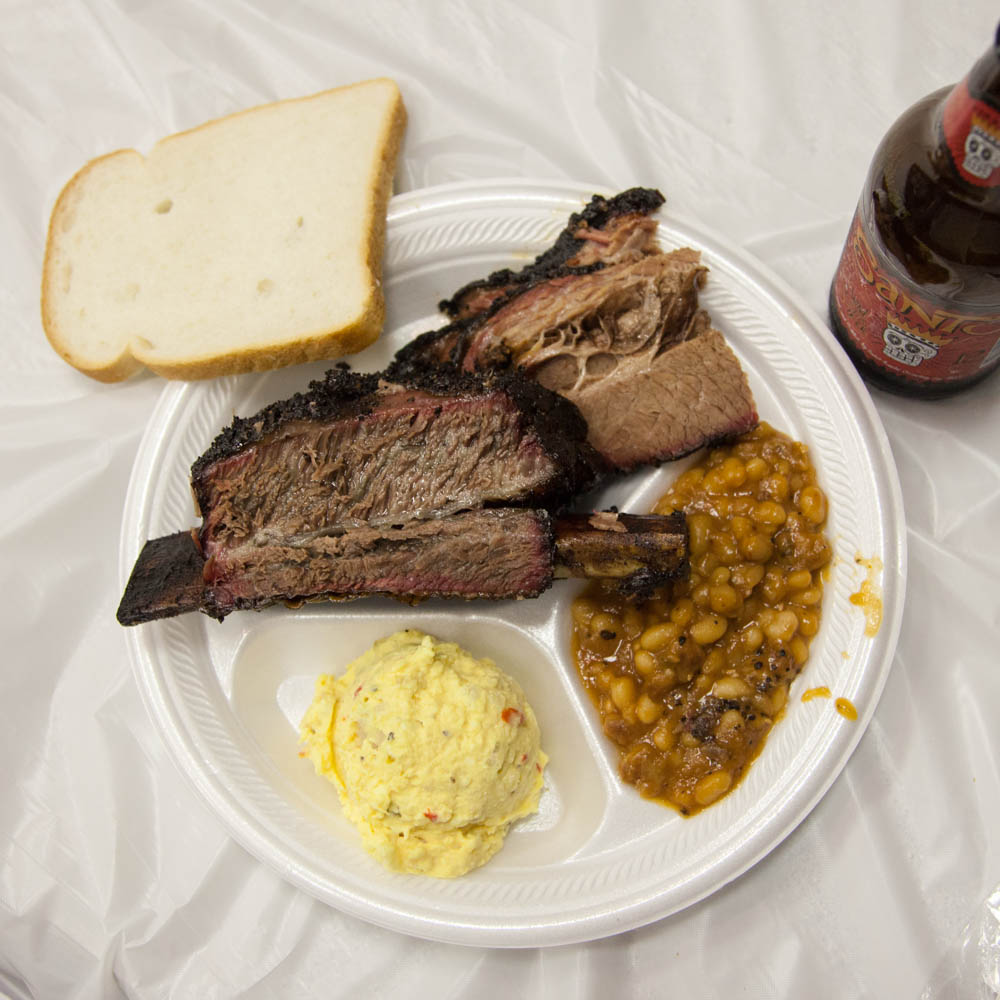 I know we were there to taste brisket, but that beef rib was an absolute show stopper!