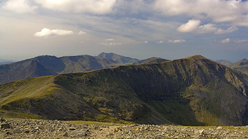 Looking from llywelyn to carnedd dafydd.
