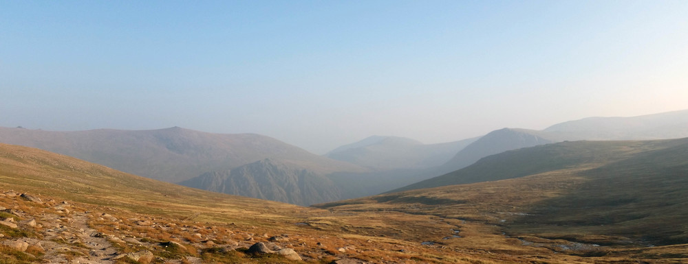Looking south on the cairngorm plateau towards ben macdui