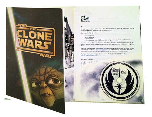 Presskit för Star Wars: The Clone Wars