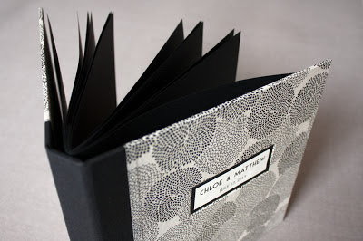 Wedding guest book handbound by Katie Gonzalez