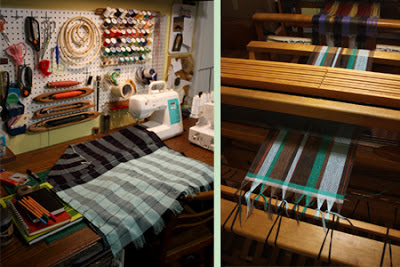 Fabric artist studio with loom in Nashville