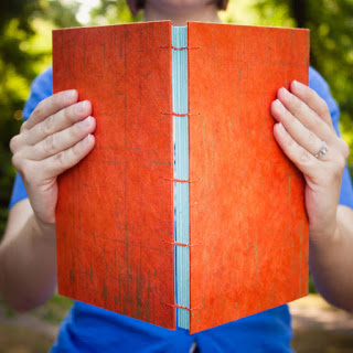 Handmade journal with Coptic binding