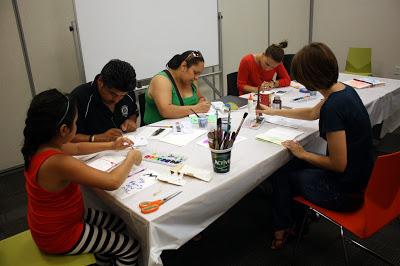 Casa Azafran bookbinding workshop