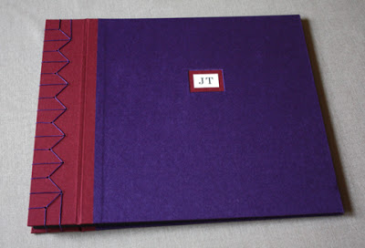 Purple handmade book for men
