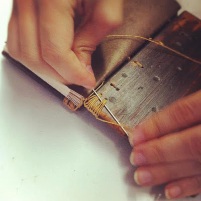 Sewing Ethiopian binding