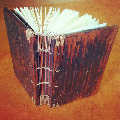 Ethiopian binding book with wood covers
