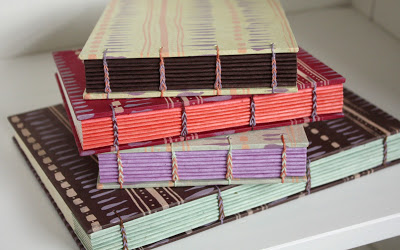 handmade books screenprinted by Katie Gonzalez