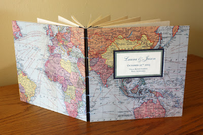 world map handmade book by linenlaid&felt