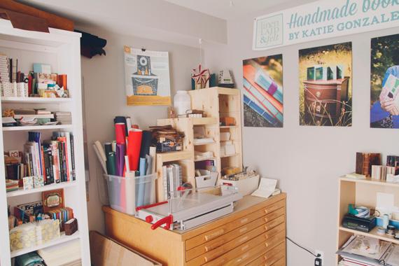 linenlaid&felt bookbinding studio in East Nashville