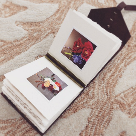 leather Instagram photo album by linenlaid&felt