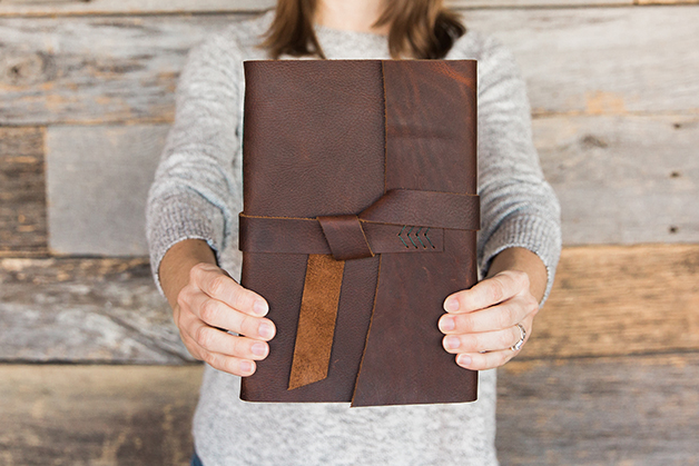 Katie Gonzalez leather journal