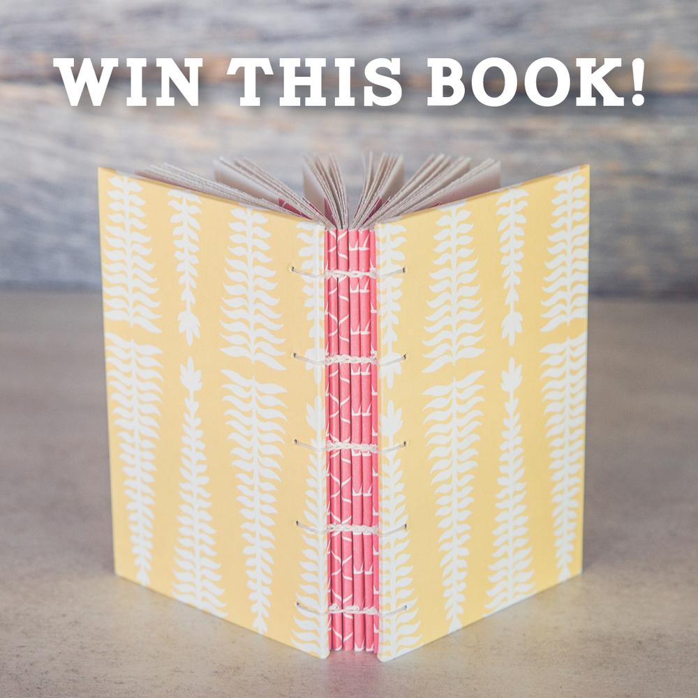 handmade book giveaway