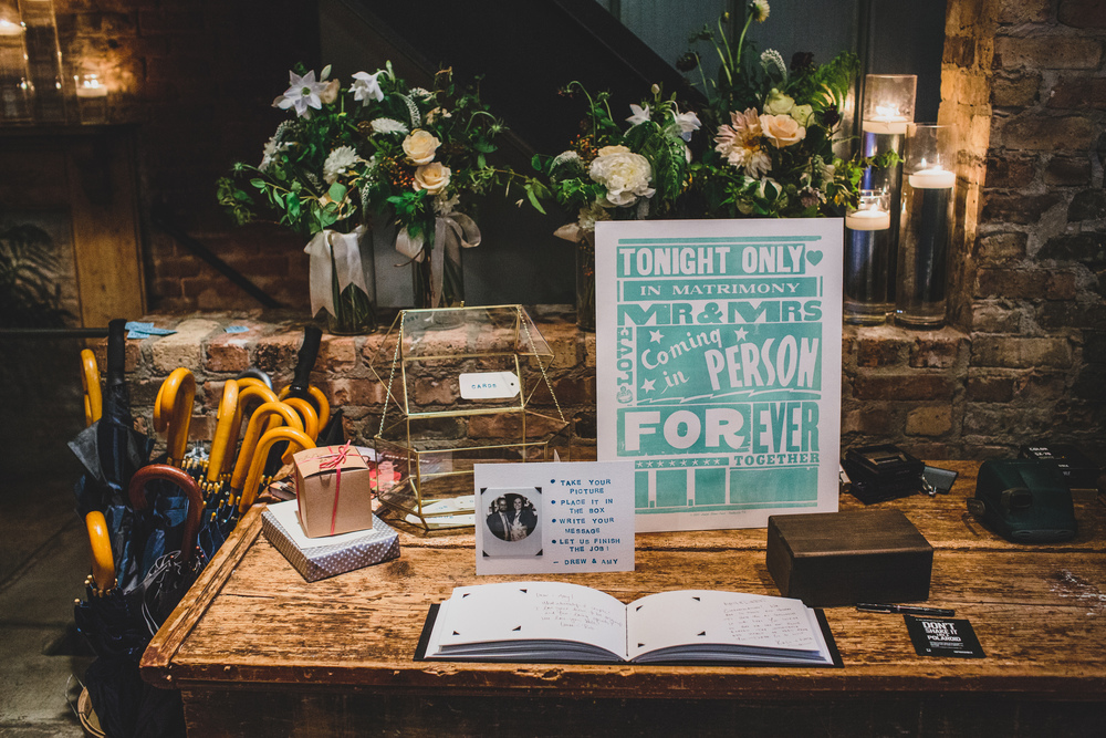 wedding guest book display table