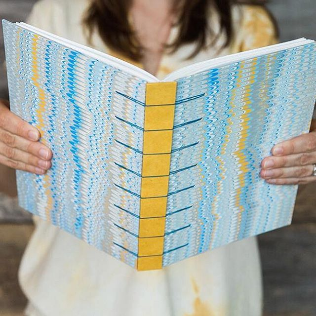 If one of your goals for the new year is to make time for creativity in 2019, signing up for one of my bookbinding or marbling classes could be just what you need. You'll learn new skills, create some beautiful and functional works of art, and have lots of fun in the process. ⠀⠀⠀⠀⠀⠀⠀⠀⠀ I'm offering four classes this spring at @watkinscommunityeducation, and registration is open through January 25. I've listed the classes below, and you can learn more about them on my website (link in profile). Hope to see you in class this spring! ⠀⠀⠀⠀⠀⠀⠀⠀⠀ • Miniature Exposed Spine Bindings (9-week class) • Secret Belgian Binding and Coptic Binding (4-week class) • Book Arts Open Studio (4-week class) • Suminagashi Paper Marbling (1-day workshop)
