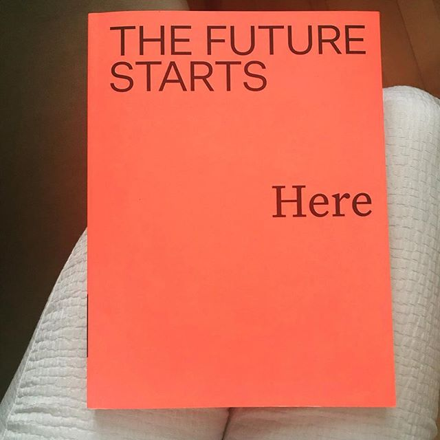 Today is the opening date for the V&A Museum's new exhibition 'The Future Starts Here'. Here is the book from show.⠀ ⠀ Curated by @m.pestana, @rory_hyde with @long_kieran&@zara_arshad, the show features 100 projects that give us a peek at how the future might reveal itself. ⠀ ⠀ Design will play an ever increasing role on every aspect of our future. From our DNA to the cosmos, from our planet to our desks, our futures will be mapped by the objects we use and the people who build them. This book explores the forking paths of future development, taking in corporate products backed by millions in venture capital to alternative bottom-up strategies dreamed up by individuals working in small groups.⠀ ⠀ The Future Starts Here examines the cutting edge of technology and how it shapes our everyday lives. Looking at real objects being developed today – including a UAV by Facebook designed to beam the internet down from space, to a robot developed by UC Berkeley which will do the laundry – expert authors show how design and technology impact every level of life, from sub-microscopic aspects of the human body to the entire planet. Published to accompany a major exhibition at the Victoria and Albert Museum in London, it asks how we can use technology to shape the future of our world. The staggering developments featured here are all happening now, it is up to us to ensure they create a future for us all.⠀ ⠀ Photo: courtesy of @marianapestana_⠀ ⠀ @vamuseum ⠀ #thefuturestartshere #design #V&A #criticaldesign #productdesign #anotherfuture⠀ #futurevertigo #speculative #speculativedesign  #conceptualdesign #designfiction #futurism#scifiartist #futurismo #interactiondesign #interactivedesign #criticaldesign #designfutures #radicaldesign #interrogativedesign #designfordebate #adversarialdesign #discursivedesign #futurescaping #conversation #inspiration #architectura #thinkdesign #newmaterialism #technology