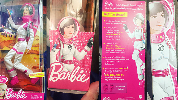 Toy manufacturer Mattel creates a Barbie doll in honour of Nelly Ben Hayoun