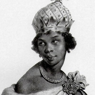 A RAINHA.  O maior desafio militar da carreira de Salvador foi enfrentar Nzinga, a rainha de 'Ngola que se vestia de homem e era estrategista brilhante. Quando achavam que estava num ponto, aparecia no outro. Quando os capoeiristas apresentaram a  ginga , pensavam nela.