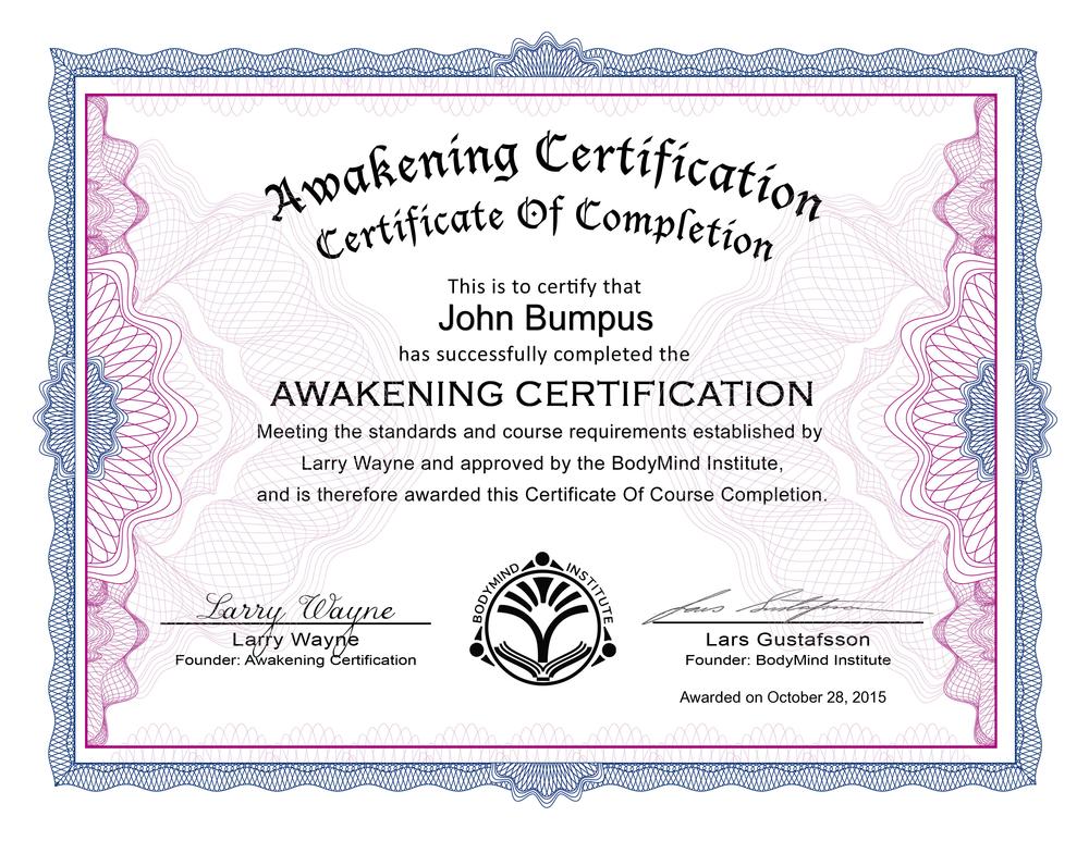 Awakening cert.png