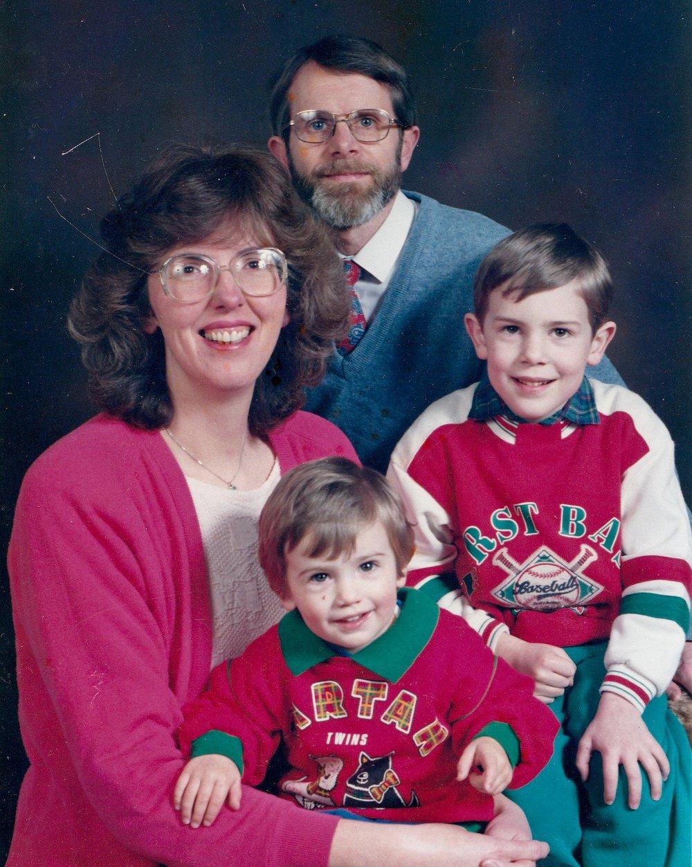 90s Family Photo