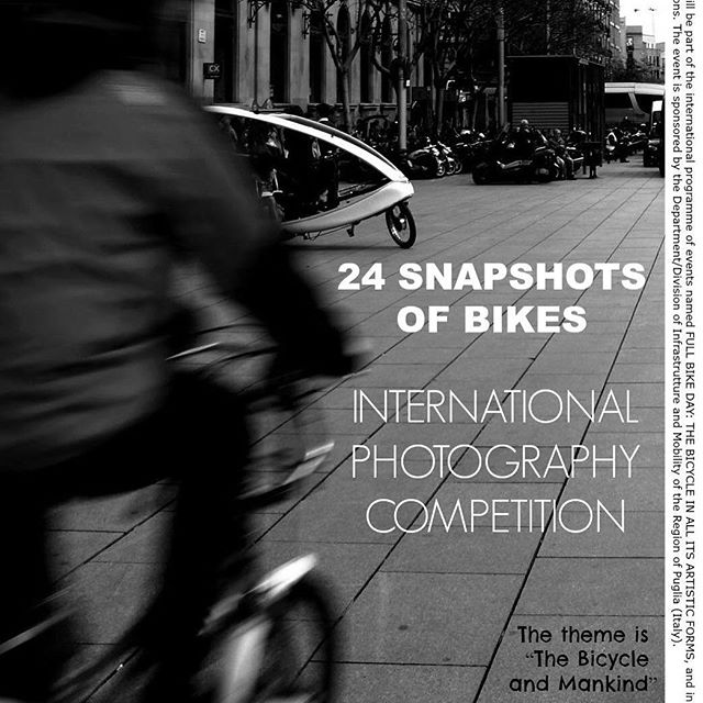 "Do you love bikes and biking? Do you take photographs?  Slow Roll Chicago is looking for your photographs!  The extended Slow Roll Chicago family is invited to enter the 2016 ""24Snapshots of Bikes: The Bicycle and Mankind"" 5th Annual International Photography Competition, hosted by the Cultural Association Aeneis 2000 of the Puglia region of Italy.</p> <p>Last year's competition was a great success and we even had a couple of winners from our Chicago family. Their photos were featured in a traveling exhibit, with a showing here in our very own city.</p> <p>Please submit your photos by Friday, February 19, 2016 via email to associazioneaeneis2000@gmail.com and please copy us on the email at info@slowrollchicago.org.</p> <p>Please follow the link for the completion rules and the photo submission process... Competition Rules:  http://src.bike/1RfOAVp  #bikechi #bikechicago #bikingchicago #chicagobikelife #chicagobikes"