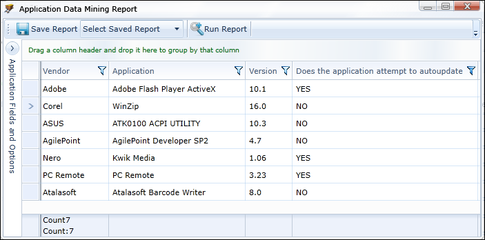Custom report on Discovery documentation: Which of our apps have an auto-update mechanism built-in?