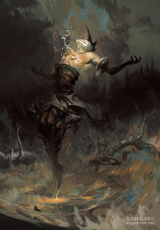 Baraqiel, Angel of Lightning — Angelarium Anime Angel And Demon Drawing