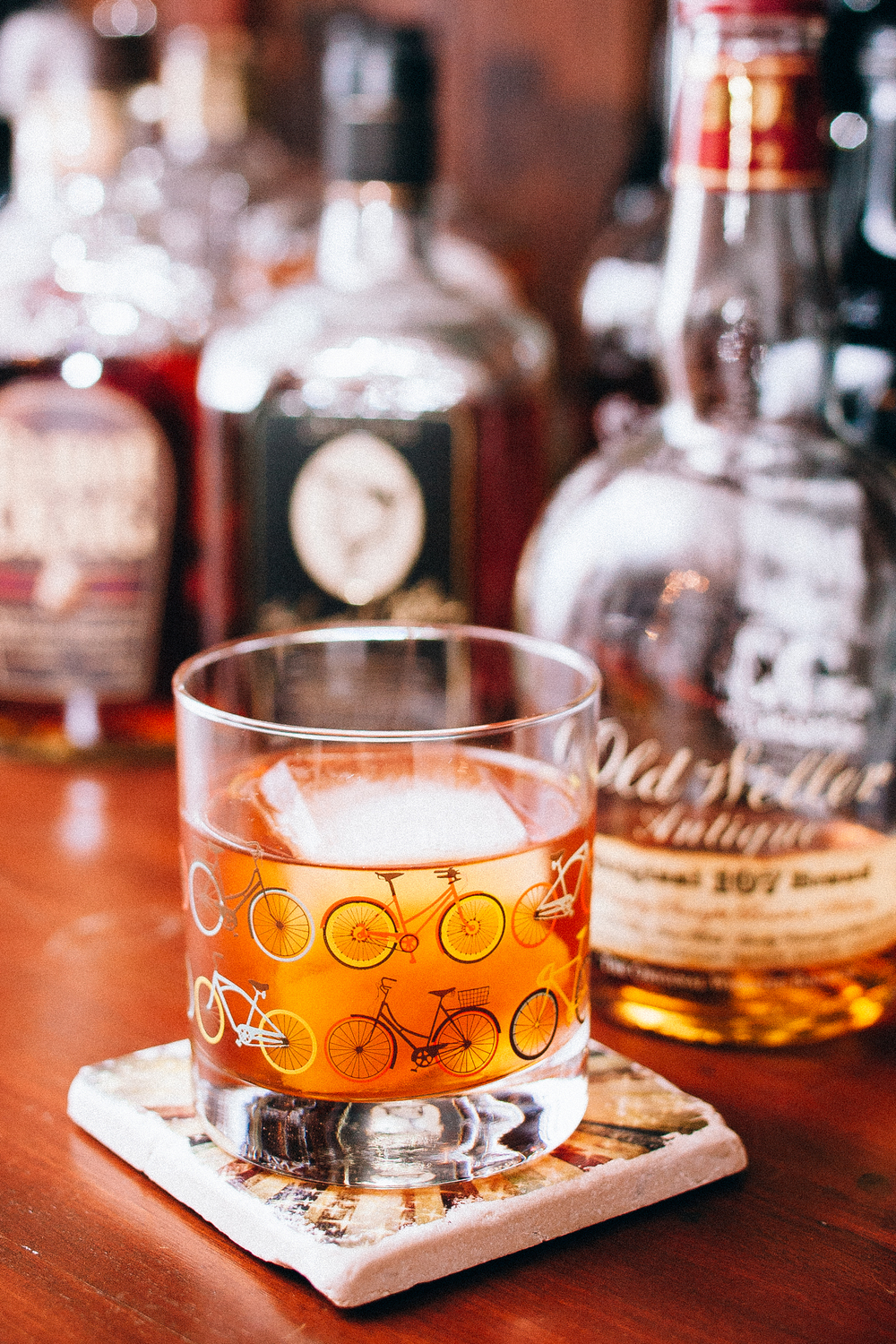 A slightly amped up Old Fashioned cocktail with Weller 107