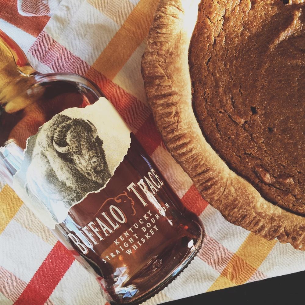Pumpkin pie and bourbon.