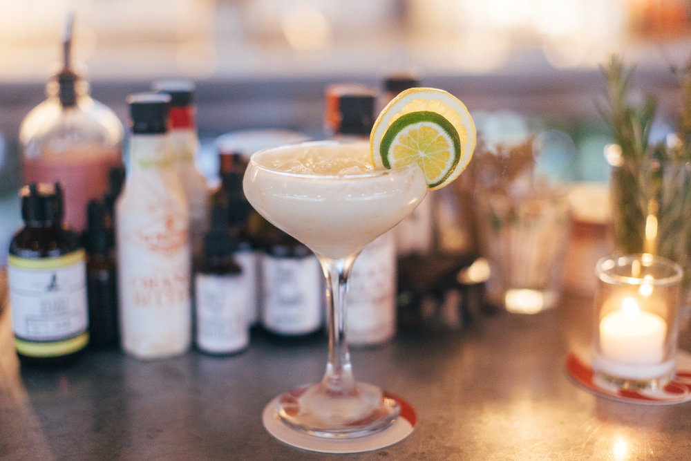 The Island Hopper. Rum, IPA syrup, coconut cream and lime.