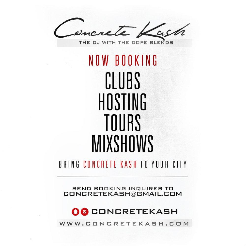 Bring CONCRETE KASH To Your City