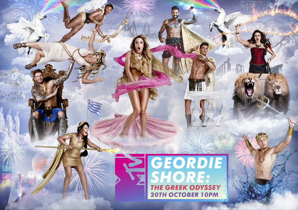 MTV Geordie Shore Key Art Campaign - 'The Greek Odyssey'