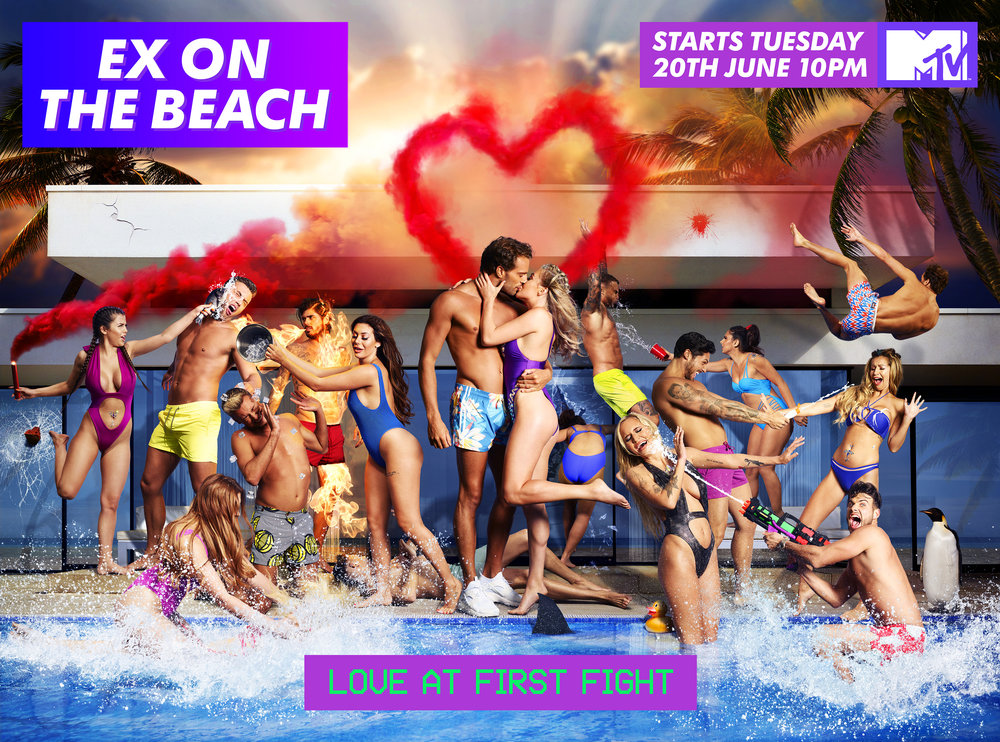 MTV Ex on the Beach Key Art Campaign - 'Love at First Fight'