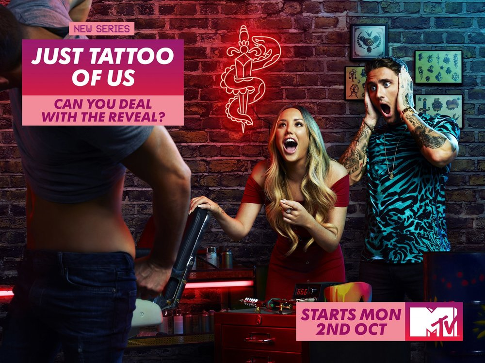 MTV Just Tattoo of Us Key Art Campaign - 'Can you Deal with the Reveal'