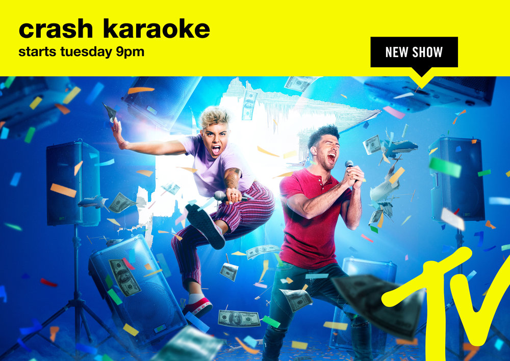MTV Crash Kareoke Key Art Campaign