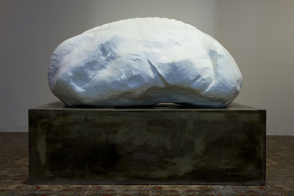 life from death, from life II  Cement, fiberglass and resin. 90 x 90 x 150cm. 2012