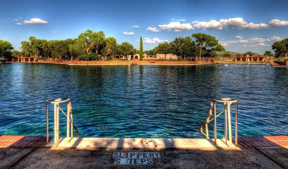 Sunday dip in Balmorea Springs