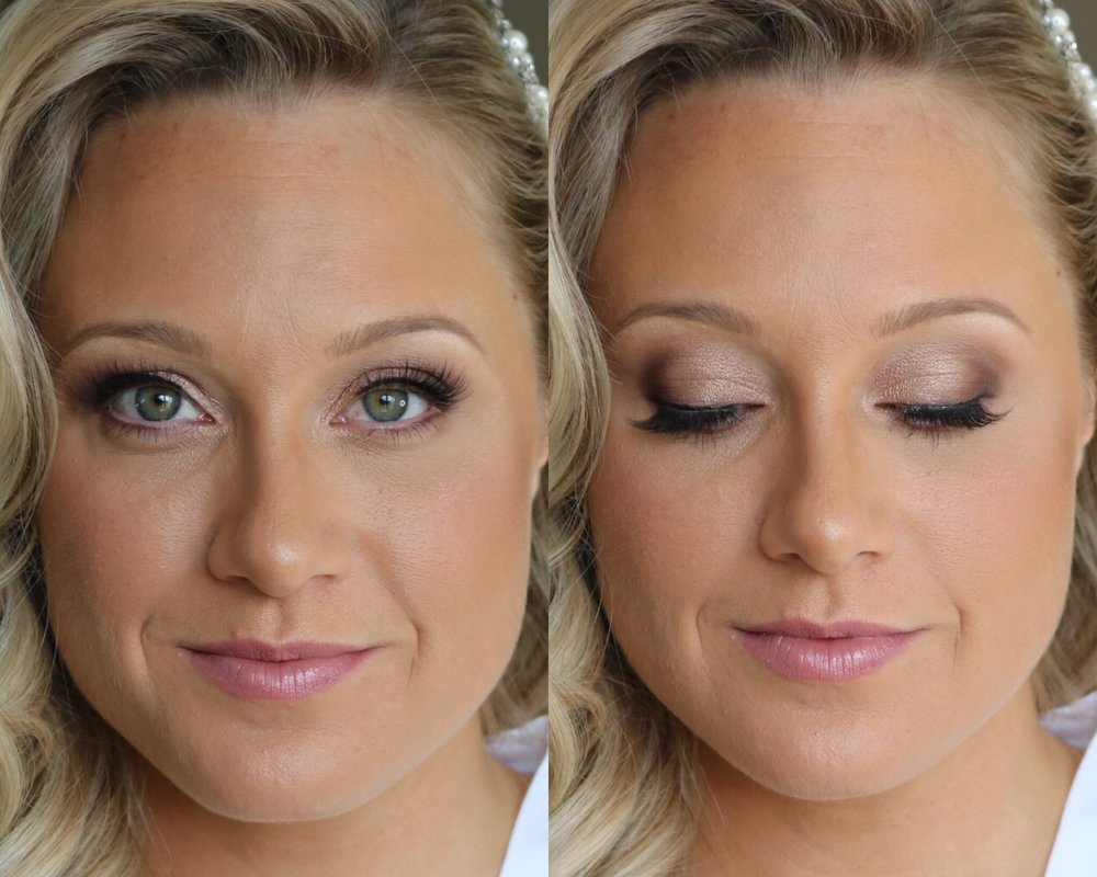 Classic Bridal Package - Trial: $90.00 (All Trials Are done in my in-home studio in Sparta, NJ) - 1 hr 15 minWedding Day Makeup: $130.00 - 45 min/ 1 hourThis makeup is for the girl that likes a classic bridal look. This is a more natural look, but still enough makeup to make the face and eyes pop in photos. This look includes full face of makeup (foundation, concealer powder etc.), shadow, liner, regular false lashes, and lip products.This package also includes a small sample container of whatever lip product is used so you can touch up the day of the wedding.