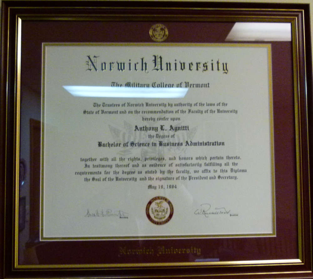 Anthony-Agnitti-Norwich-Bachelor-of-Science-in-Business-Administration
