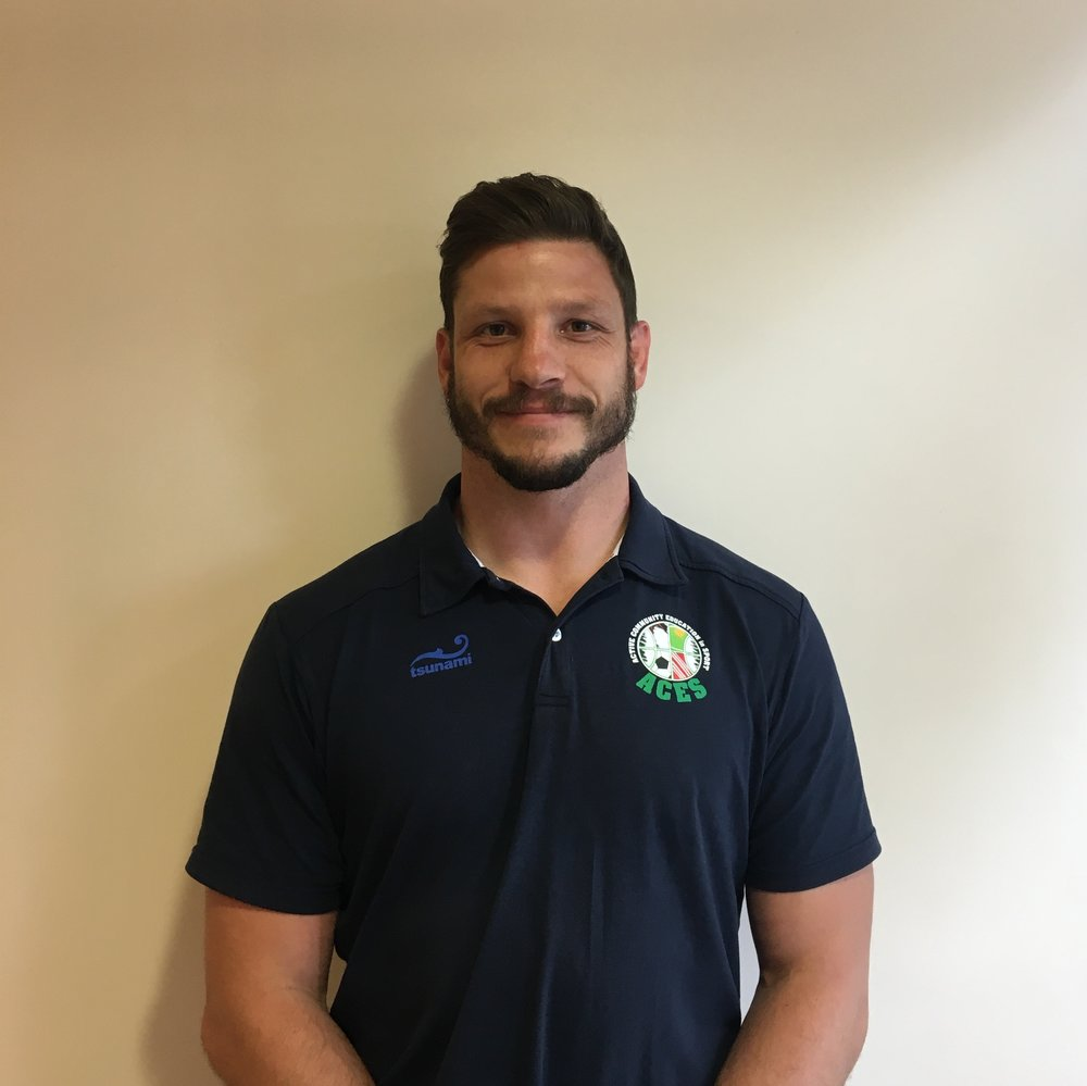 Kyle Dench ACES Education Commercial Director.  Qualifications: QTS Physical Education, MA Education, RFU Level 2, Gymnastics level 1, Trampoline level 1 Representative: England Counties Rugby 2007, 2009, 2010, Yorkshire RFU
