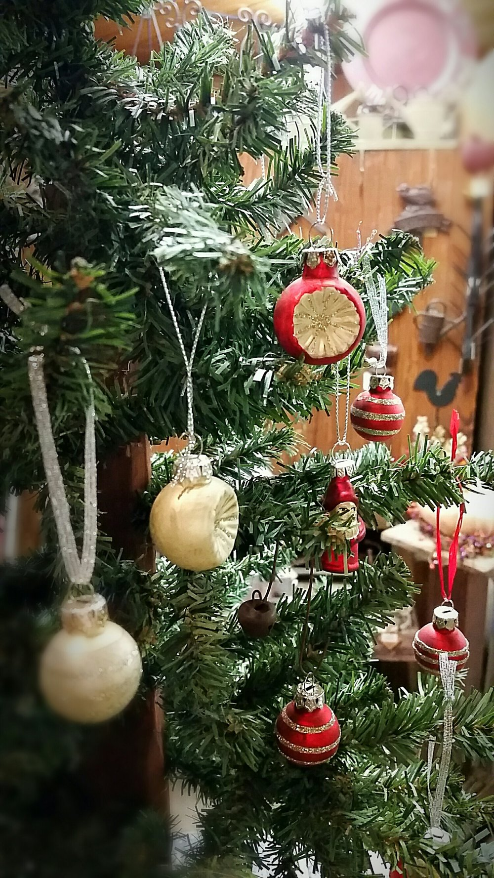 Vintage inspired glass ornaments
