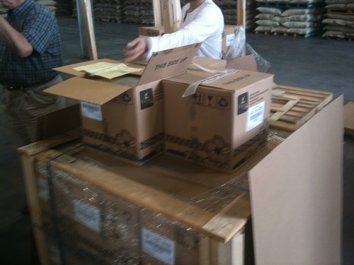 Boxes at the Annex: Taking a look at some of the boxes that we sent to The Annex in San Leandro, CA.