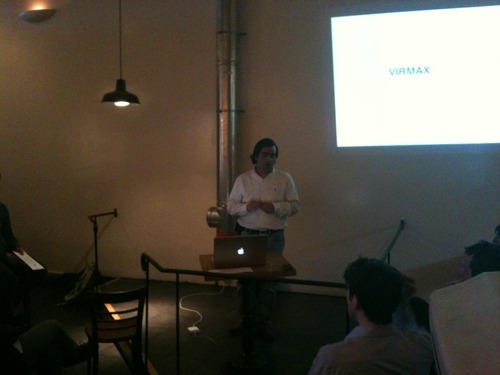 Alejandro's Presentation: Alejandro Cadena giving a presentation at Ritual Coffee Roasters in San Francisco… at this point talking about Virmax.