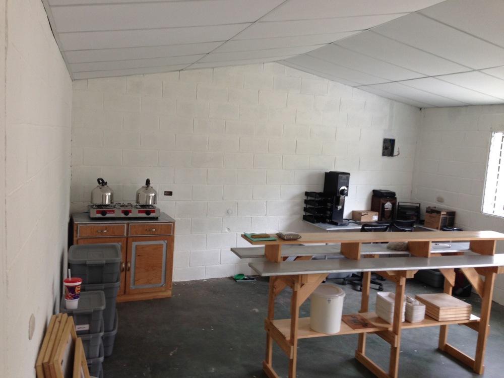 New cupping lab at Beneficio Montecristo.