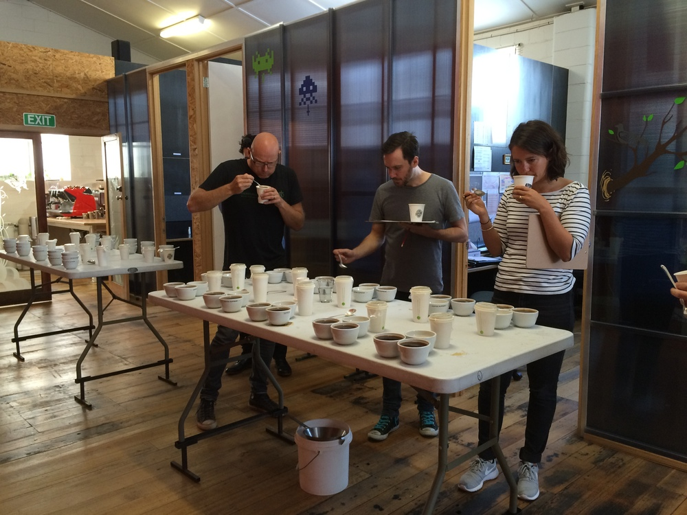 Cupping at Coffee Supreme Melbourne