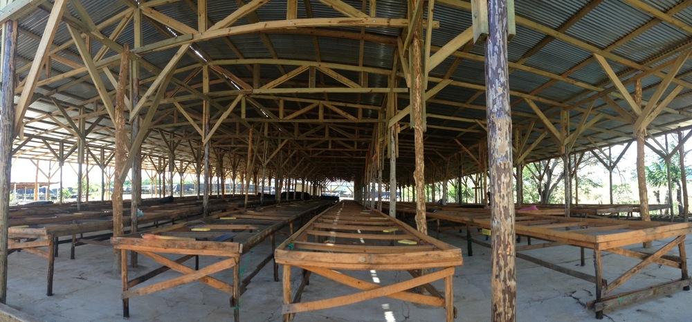 Pre-drying structure at Beneficio La Estrella, Ocotal, Nueva Segovia, Nicaragua