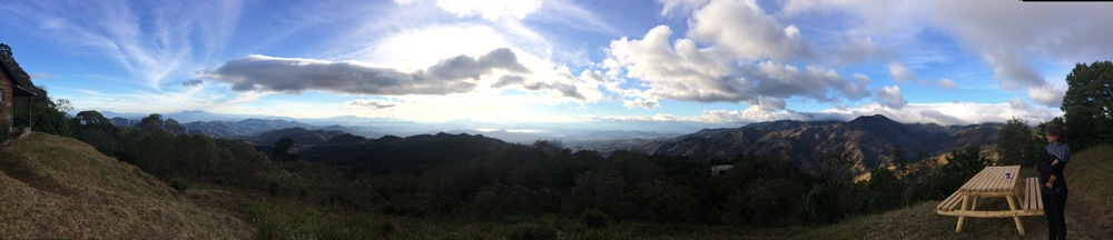 Panorama of El Salvador from the Trifinio area where Guatemala, El Salvador and Honduras meet.