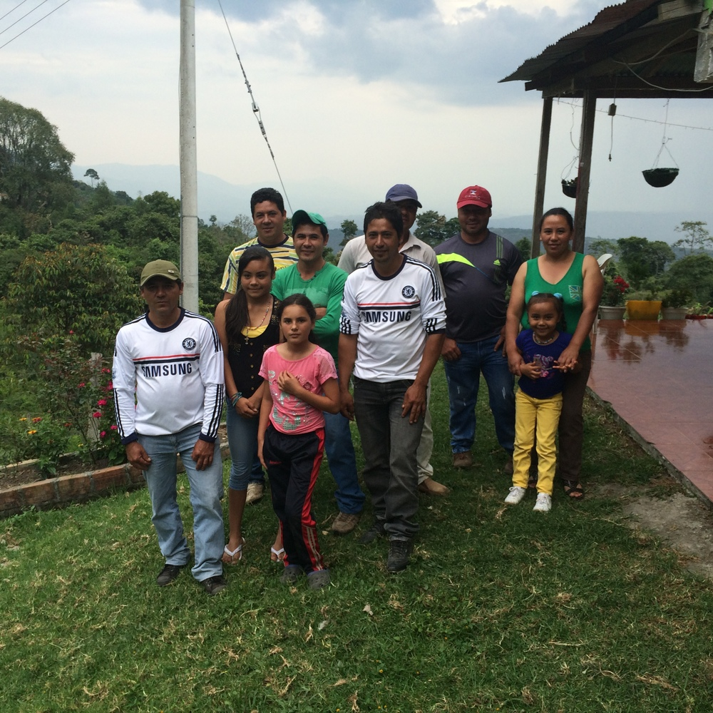 The Guarnizo family in Tarqui, Huila