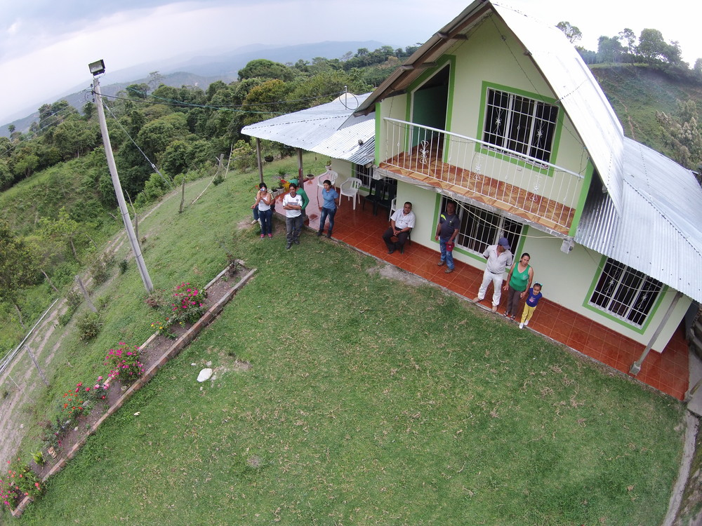 Drone view of the Guarnizo home.